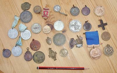 Lrg Job Lot of Vintage Medals & Medallions etc all sorts inc S.M.R.C. etc