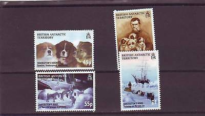 British Antarctic Terr - Sg407-410 Mnh 2005 Shackleton Expedition - Dogs