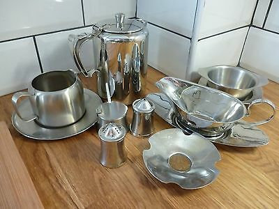 Qty Of Retro Vintage  Old Hall Stainless Steel Kitchen Items