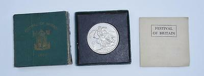 Boxed 1951 Festival of Britain Crown box is tatty