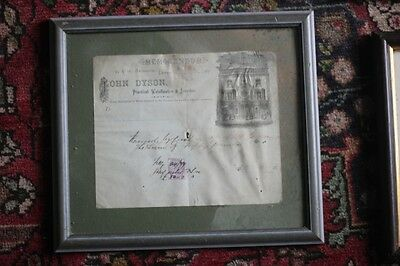Framed Victorian documents (3), 1880s with stamps