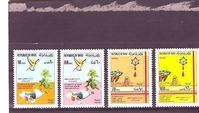 Iraq - Sg1607-1610 Mnh 1983 Massacre Of Palestinians In Refugee Camps