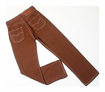 Levis Vintage 90s 501 Brown Overdyed Red Tab Denim Jeans W28 L28