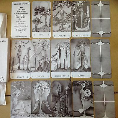 OOP HTF SERENITY ARCANA TAROT CARDS DECK NUMBERED 6/10 SIGNED BY Beth Seilonen