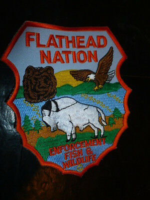 Flathead Nation MT Montana Patch Fish & Wildlife Very quick Free Shipping