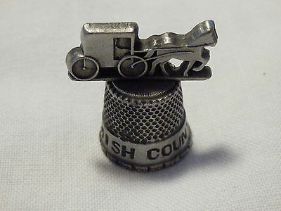 Amish Country Thimble - Horse And Buggy On Top Of The Thimble