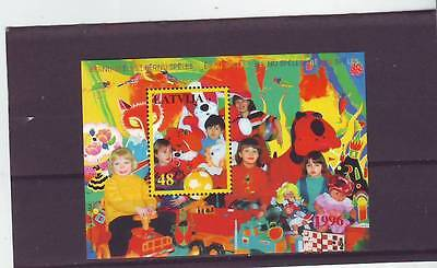 Latvia - Sgms444 Mnh 1996 Children With Toys