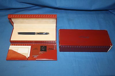 S.T. Dupont 18k Olympio Lacquer Midnight Blue Fountain Pen M ~Make Offer~ *FS*