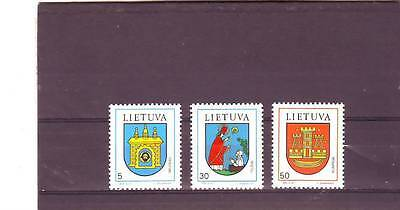 Lithuania - Sg531-533 Mnh 1993 Town Arms