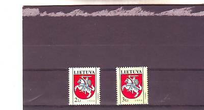 Lithuania - Sg567-568 Mnh 1994 State Arms