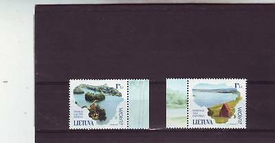 Lithuania - Sg756-757 Mnh 2001 Europa - Water Resources