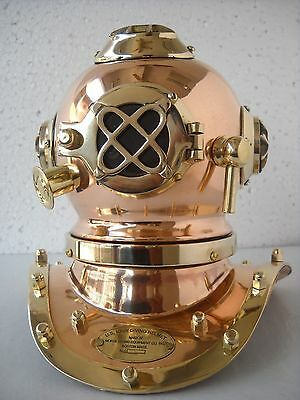 Copper Brass Solid Antique Divers Diving Helmet U S Navy Mark IV DECORATIVE GIFT