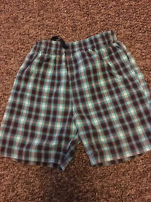 Cherokee Boys Checked Shorts Age  12-18 Months