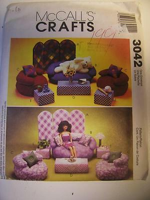 Pattern McCall's #3042 Barbie Bean Animal ModernDoll House Furniture Table UNCUT