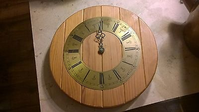 Wooden Clock Face 11.5 Inches JUST NEEDS QUARTZ MECH Shabby Chic Project?