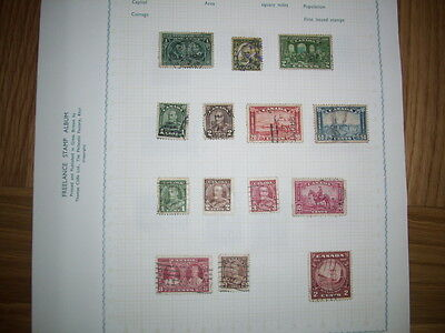 OLD ALBUM PAGE OF CANADA STAMPS (Lot 3)
