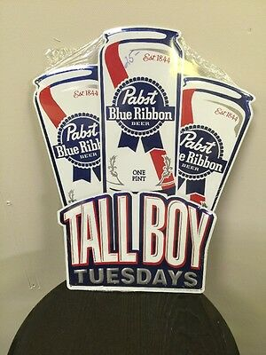 Pabst Tall Boy Tuesday's Sign