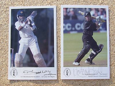 Collection of 8 Signed Classic cricket Cards Jason Gillespie Plus 7 others