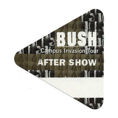 Bush authentic Aftershow 2000 tour Backstage Pass