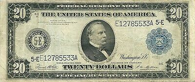 1914 $20 Richmond Federal Reserve ~ World War I Currency ~ Nice Collector Grade