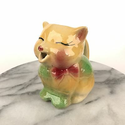 Vintage Shawnee Pottery Cat Puss N Boots Creamer Pitcher Yellow #85