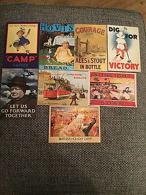 8 advertising post cards from the Robert Opie collection