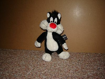 "Vintage Sylvester The Cat 9"" Plush Warner Brothers Studio Store 1995 Cute Kitty"