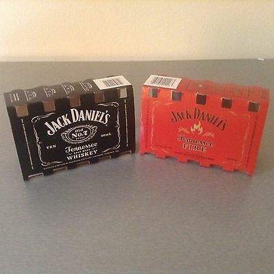 Lot of Two Jack Daniels and Jack Tennessee Fire 50ml bottle sleves. NICE!!!k