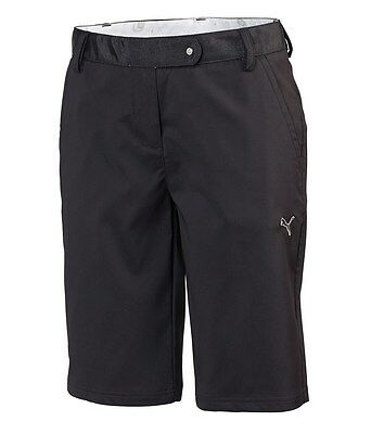 New Womens Puma Golf Solid Tech Bermuda Shorts Black Size US 6 D 36