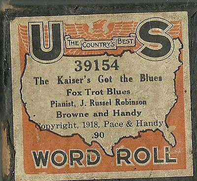 Kaiser's Got the Blues, played by J Russel Robinson US 39154 Piano Roll Handy