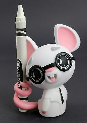 Kidrobot Crayola Coloring Critter Series White Scientific Mouse Vinyl Fig 1/40