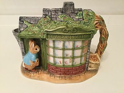 Beatrix Potter 'Peter Rabbit in Front of Store' Teapot 1998 with Box