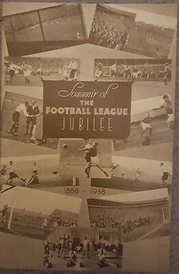 1938/39 Football League Golden Jubilee Programme - BLANK - VERY RARE - EX COND