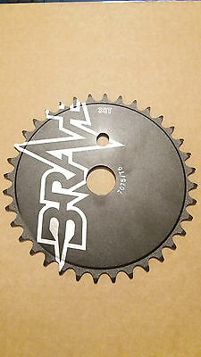 BMX Chainring / sprocket Brave 36T 36 tooth stylised rare old school CNC bike