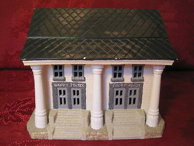 Ceramic Plaster Model Train Railroad Layout Display Building US Court House