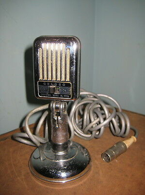 Geloso, vintage,chrome rare microphone,crystal mike m.1110.,made in Italy