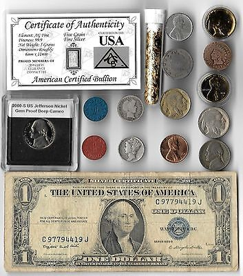 Silver Dollar Barber Mercury Antique Liberty Indian US War Coin Collection Lot