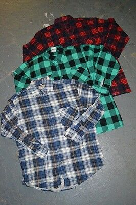 Wholesale Vintage Flannel Checked Plaid Shirts X 100 FINAL LOT