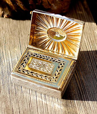 Exceptional and very rare. Geo III 1800 VERY FINE Silver Vinaigrette
