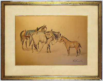 Karol Kossak - OLD WATERCOLOR !!! Best PRICE !!! 100% POSITIVE OPINIONS !!!