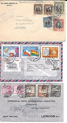 lot 135 Chile Nice Airmail covers