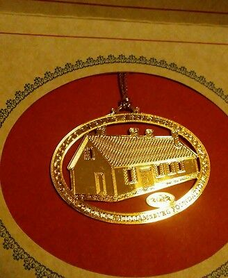 2012 Gold Ornament Anderson's Blacksmith Shop Colonial Williamsburg