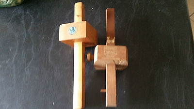 2 x vintage mortice and tenon gauge markers
