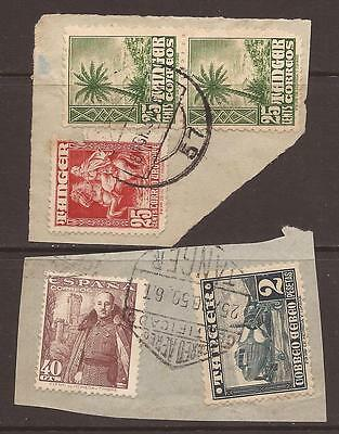 Spain / Morocco. Tangiers. Stamps On Piece. Used