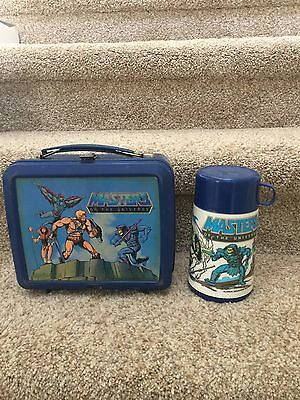 1983 Masters of the Universe Plastic  Lunchbox & Thermos