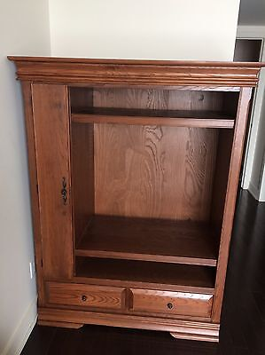 Wooden Media Cabinet/Armoire (Light Brown) - Great Condition