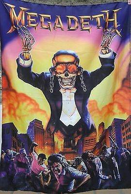 MEGADETH Symphony of Destruction FLAG CLOTH POSTER WALL TAPESTRY BANNER CDThrash