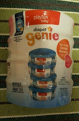 Playtex Diaper Genie Disposal System Refills 4 Count (960 diapers total)