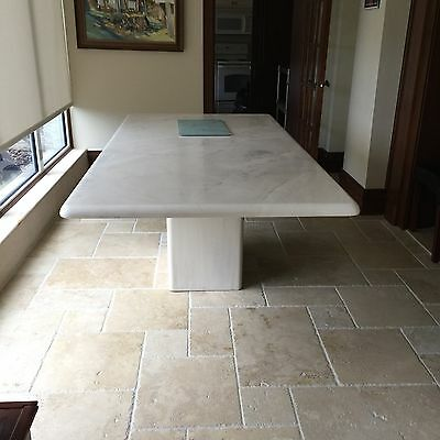 Faux Marble Dining Table (White) - Great Condition!
