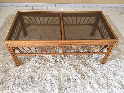 Glass Top Coffee Table And Matching Side Table -Great Condition